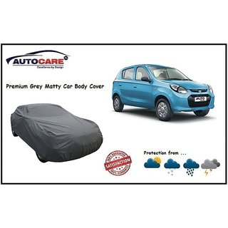 De AutoCare Grey Matty Car Body Cover For Maruti Suzuki Alto 800