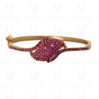 ruby color stone studded bracelet