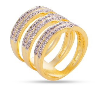 Tistabene Retails Contemporary American Diamond Stylish Club Wear Cocktail Ring For Women And Girls (RI-0527)