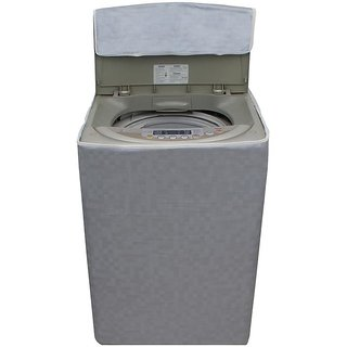 Dream Care Grey Colour with Square Design Washing Machine Cover for Fully Automatic Top Loading LG T7070TDDL 6 KG