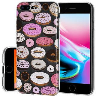 Soft Gel Clear TPU Skin Case - Modern Donut Print For IPhone 8