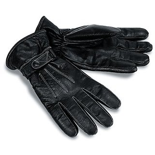 MOCOMO Motorcycle Clothing Company Motorcycle Leather Riding Gloves (Black, Large)
