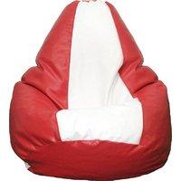 RG XXL Bean Bag Cover  Red  White