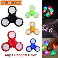 LED Light Finger Spinner Colourful Lighting For Autism