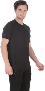 Klothoflex Black Sports Drifit Tshirt