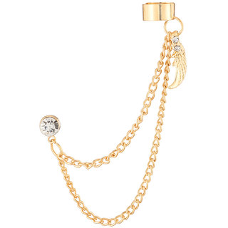 JewelMaze Gold Plated Austrian Stone Ear Cuff