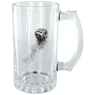 The Crazy Me Dice Clear Beer Mug