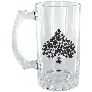 The Crazy Me Spade Clear Beer Mug