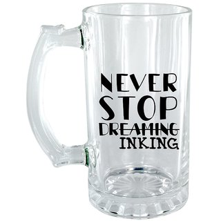 The Crazy Me Never Stop Dreaming In king Clear Beer Mug