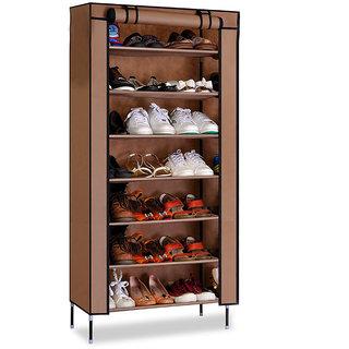 Kawachi Multipurpose Shelf Shoe Storage With 7 Layer Shoe Stand Rack - K437 - Brown