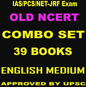 OLD NCERT (English Medium) COMBO SET for IAS/PCS Exam (39 BOOKLETS printout quality)