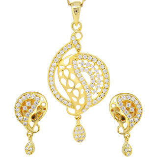 Tistabene Retails Contemporary Antique Designer Stylish Fancy Party Wear Pendant Set For Girls And Women (PS-0276)