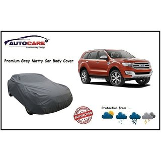 De AutoCare Grey Matty Car Body Cover For Ford Endeavour