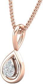 Diamond Pendant 0.02 CT / 0.36 gm 18k Rose Gold-JPT1853