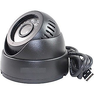CCTV Dome Camera Video Recorder With IR,Inbuilt DVR and Micro SD Card Slot USB