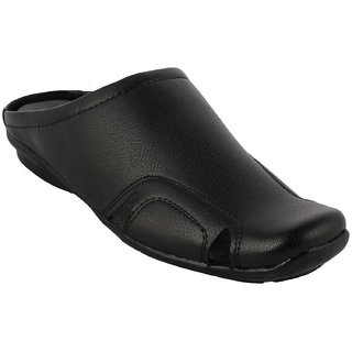 Lavista Men's Black Synthetic Leather Half-Shoe