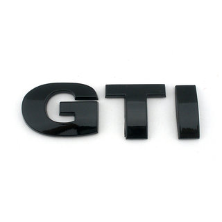 GTI BLACK ABS 3D Sticker Badge Emblem Logo Volkswagen VW Polo Vento Jetta Passat
