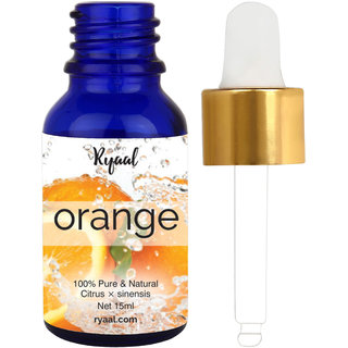 Ryaal Orange Essential Oil (100 PURE NATURAL - UNDILUTED) Therapeutic Grade - 15ML - Perfect for Aromatherapy