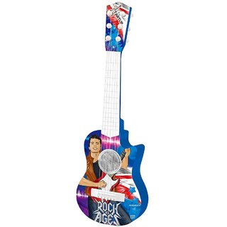 Tunable String Party Play Rock Music Guitar Toy Battery Operated with 3 Different Mode  Colorful Light