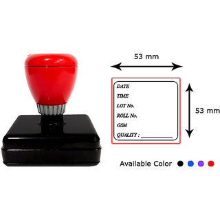 Presto Self Inking Customized Gel Stamp with print-like Impression Size 53 x 53 mm