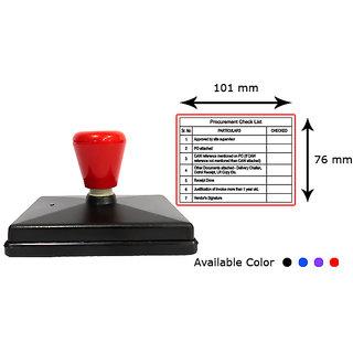 Presto Self Inking Customized Gel Stamp with print-like Impression Size 101 x 76 mm