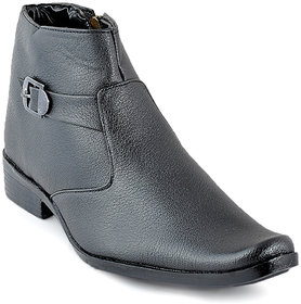 Foot n Style Mens Black Buckle Formal Shoes