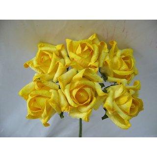 Handmade Artificial Paper Flower Yellow