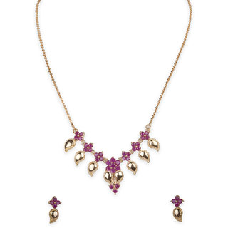 The Elegant Ruby Necklace By Sthrielite (NCK-RB-034-070)