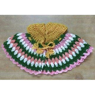 Woollen Krishna ji poshak designer multicolor