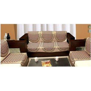 Shiv Kirpa Polycotton 5 Seater Sofa Cover