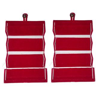 Sabita Set Of 2 Velvet Earring Folder Ring Box Jewelery Case Storage Ear Travelling