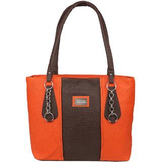 Tarshi Pu Orange multicolor Shoulder  Bag For Women