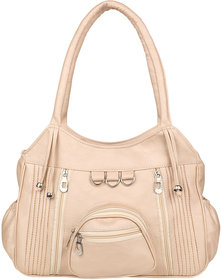 Tarshi Pu Light Beige Shoulder  Bag For Women