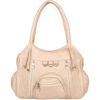 Tarshi Pu Light Beige Shoulder  Bag For Women