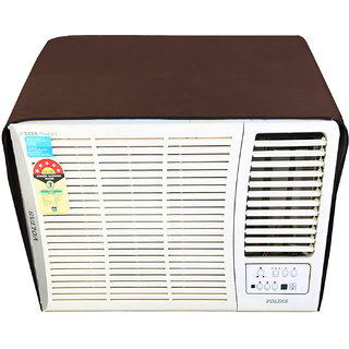 Glassiano Coffee Colored waterproof and dustproof window ac cover for Voltas 18 HY Hot and Cold Y Series AC 1.5 Ton