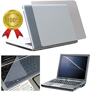 NON BRAND Laptop screen guard  keyboard protector and transparent skin 3 in 1 super 15.6