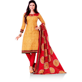 Manya Cotton Printed Dress Material (Unstitched)