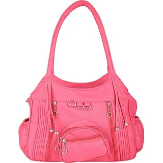 Tarshi Pu Pink Shoulder  Bag For Women