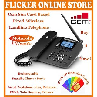 ORIGINAL MOTOROLA FW200L GSM SIM CARD BASED FIXED WIRELESS LANDLINE TELEPHONE WORK ALL GSM SIM CARDS