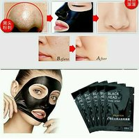 6 pcs original Charcoal pore Cleansing Face Blackhead Remover facial Mask