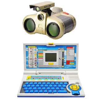 combo of Kids English Learner Computer toy and binocular toy