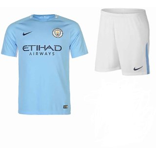 b8356e31c35 Buy MAN CHASTER CITY HOME KIT JERSEY WITH SHORTS SEASON 17-18 Online - Get  35% Off