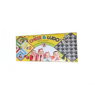 MINI CHESS AND LUDO GAME 2 IN 1 GAME