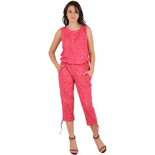 Ira Designer Multicolour Lycra Cotton Playsuit for Women