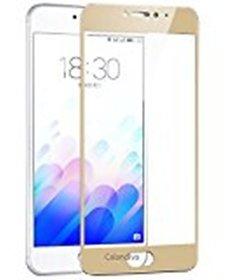Hathot Oppo F1S 0.3 Mm Color Flexible Tempered Glass(Golden)