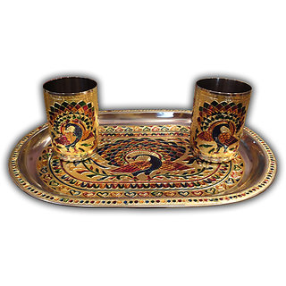 Tray Glass Set (Meenakari)