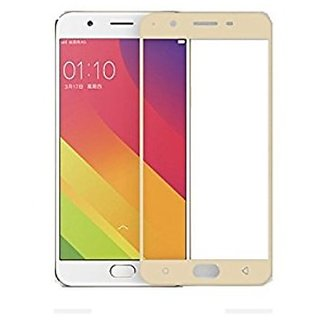 Hathot Oppo A57 0.3 Mm Color Flexible Tempered Glass(Golden)
