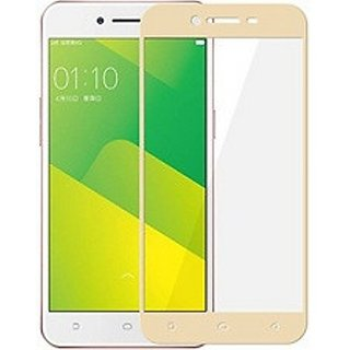 Hathot Oppo A37 0.3 Mm Color Flexible Tempered Glass(Golden)