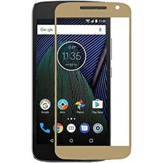 Hathot Motorola Moto G5 Plus 0.3 Mm Flexible Tempered Glass( White)