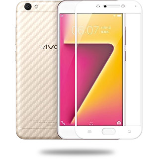 Hathot Vivo V5 0.3 Mm Color Flexible Tempered Glass(White)